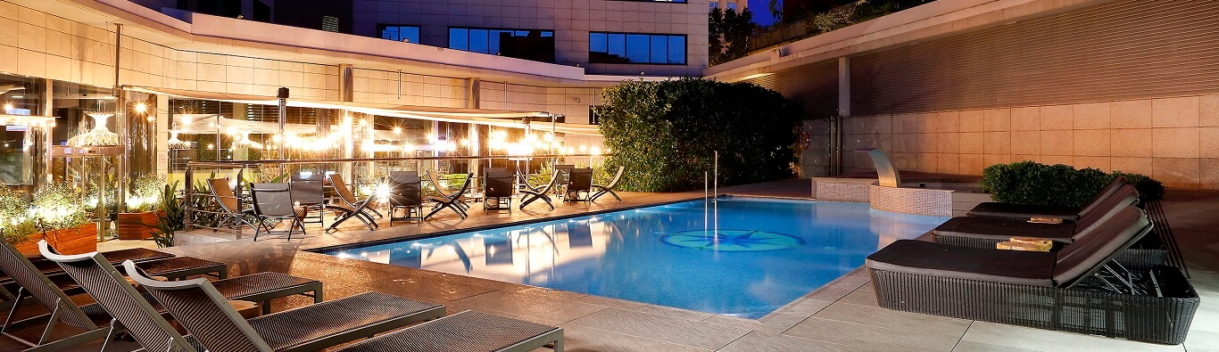 Hotel Swimming Pool Beach Barcelona