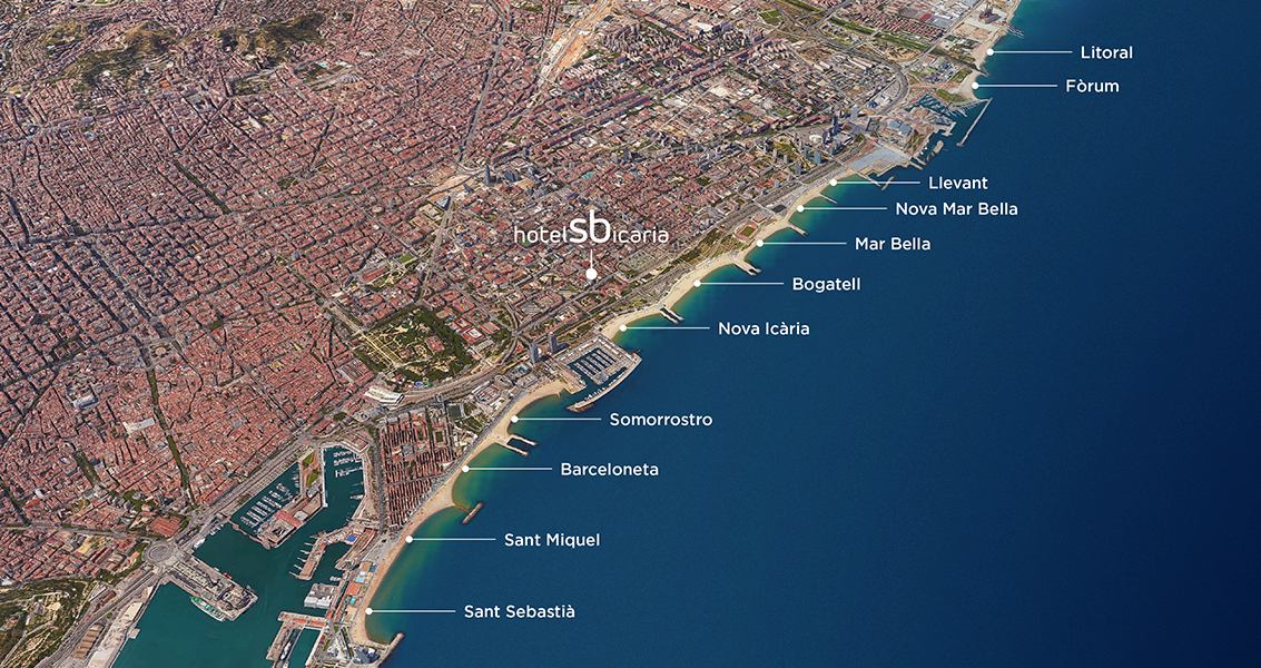 Map Plage Barcelona