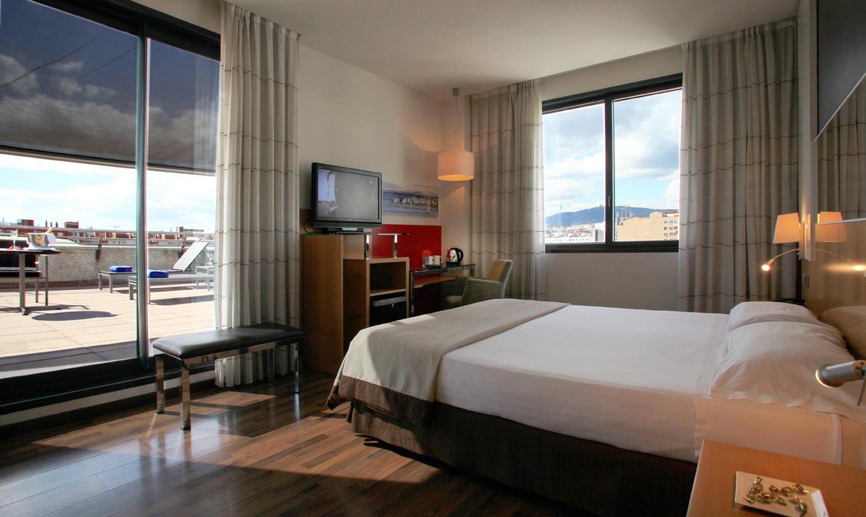 Habitaciones dobles terraza hotel sb icaria barcelona for Habitaciones prefabricadas para terrazas